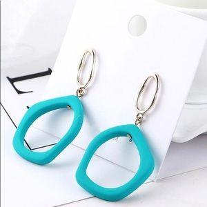 Jewelry - Aqua Blue Acrylic Earrings